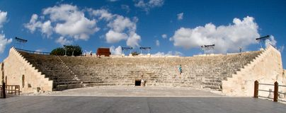 Ancient theatre in Kourion Stock Photos