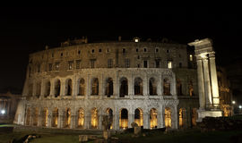Ancient Theatre of Marcellus at Night, Rome Royalty Free Stock Photos