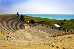 Ancient theatre near Limassol in Cyprus. Royalty Free Stock Image