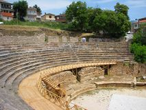 Ancient Theatre, Ohrid, Macedonia Stock Photos