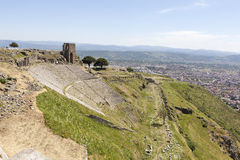 Ancient Theatre. Pergamum. Turkey. Royalty Free Stock Photos