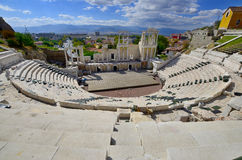 The ancient theatre of Philippopolis Stock Photo