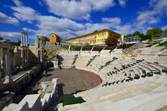 The ancient theatre of Philippopolis Stock Photography