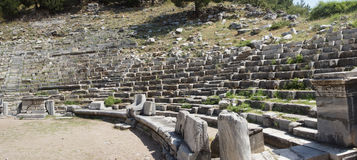 Ancient theatre with rows of stone seats, Stock Photo
