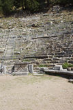 Ancient theatre with rows of stone seats, Royalty Free Stock Photography