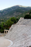 Ancient  theatre Sanctuary of Asklepios  Epidaurus greece antique Royalty Free Stock Image