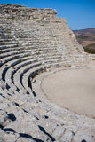 Ancient theatre seats in Segesta, Sicily Stock Photos