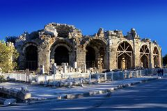 Ancient theatre in Side, Turkey Stock Image