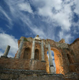 Ancient theatre of Taormina Royalty Free Stock Image