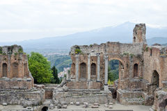 The Ancient theatre of Taormina Royalty Free Stock Images
