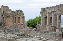 The Ancient theatre of Taormina Stock Photography