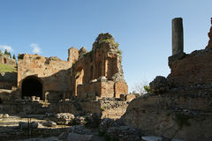 Ancient theatre of Taormina, Italy Royalty Free Stock Image
