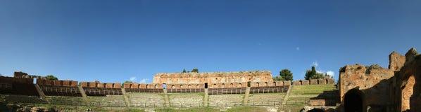 Ancient theatre of Taormina, Italy Stock Photo