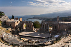 The Ancient Theatre of Taormina Royalty Free Stock Image