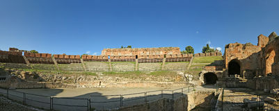 Ancient theatre of Taormina , Italy Royalty Free Stock Photo