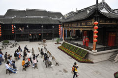 Ancient theatre of Zhou Zhuang Village ,China. Stock Photography