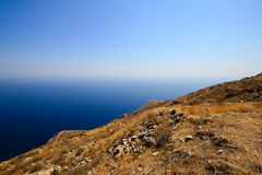 Ancient Thira mountain Royalty Free Stock Photography