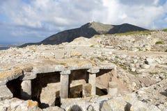 Ancient Thira at Santorini, Greece Stock Photography