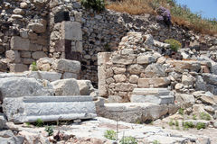 Ancient Thira, Santorini, Greece Stock Images