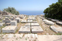 Ancient Thira, Santorini, Greece Royalty Free Stock Image