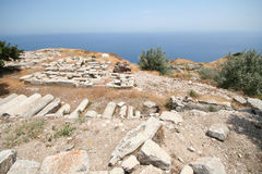Ancient Thira, Santorini, Greece Royalty Free Stock Photography