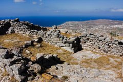 Ancient Thira Santorini Stock Photo