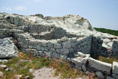 The ancient Thracian city of Perperikon Royalty Free Stock Photo