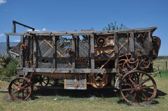 Ancient threshing machine Royalty Free Stock Image