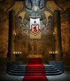 Ancient Throne Room 2 Royalty Free Stock Photos