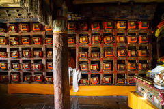 The ancient Tibetan buddhist library Royalty Free Stock Image
