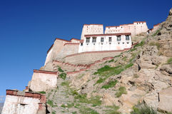 Ancient Tibetan castle Stock Photo