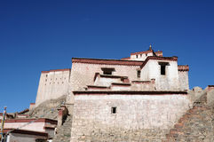 Ancient Tibetan castle Royalty Free Stock Photos