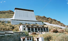 Ancient Tibetan fort  Royalty Free Stock Images