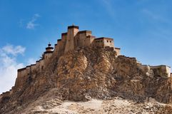 Ancient tibetan fortress Royalty Free Stock Photography