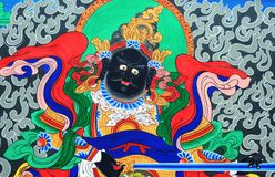 Ancient Tibetan wall painting art Stock Photography