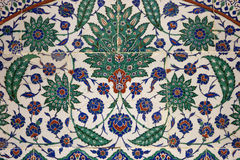 Ancient tile pattern on ceramic wall in istanbul Archeology Muse Stock Image