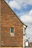 Ancient Tiled House Fascia, Gable End Wall Royalty Free Stock Image
