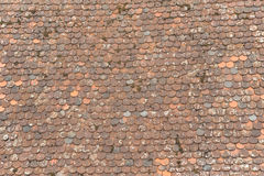 Ancient tiles roof background. Royalty Free Stock Photos