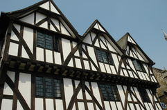 Ancient timber building. A timber built construction, dating from the Elizabethan age. This is located in Lincoln, England Stock Photography