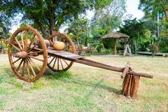 Ancient timber bullock cart Stock Images
