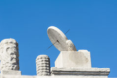 Ancient timekeeping instrument - Sundial Royalty Free Stock Images