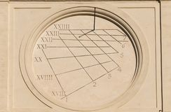 Ancient times and sundial stock images