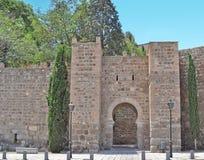 Toledo walls. Ancient Toledo walls in Spain Stock Photo