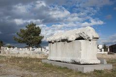 Ancient Tomb. At Roman Bath ruins in Ankara, Turkey Stock Photography
