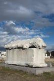 Ancient Tomb. At Roman Bath ruins in Ankara, Turkey Royalty Free Stock Photos