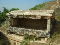 Ancient tomb. In Efes. coffin antique stone Efes turkey Royalty Free Stock Photo