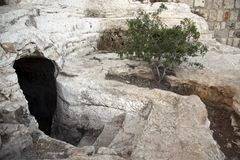 Ancient Tomb. In Jerusalem old city, circa 1st century Royalty Free Stock Photography