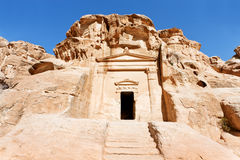 Ancient tomb near the entrance in Little Petra Stock Image