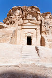 Ancient tomb near the entrance in Little Petra. Jordan Stock Photography