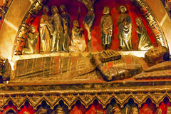 Ancient Tomb Old Salamanca Cathedral Spain Stock Photo